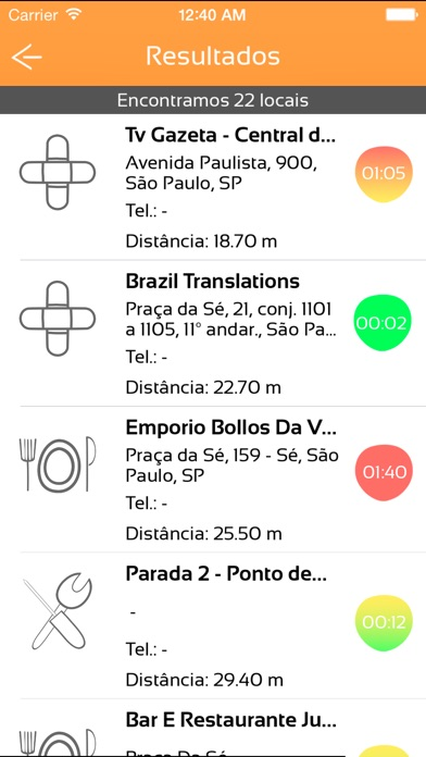 Screenshot do app Tem Fila?