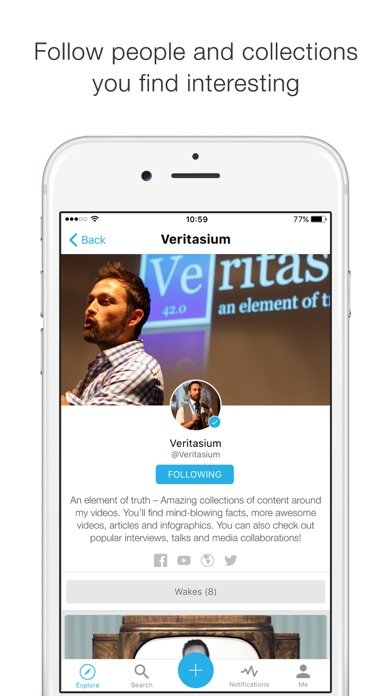 Wakelet Screenshot