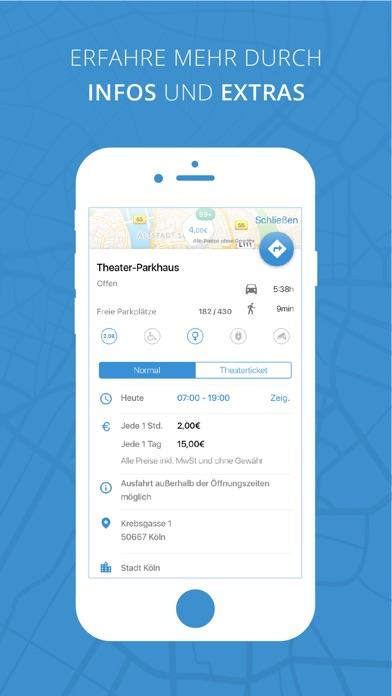 parkpocket - Die Parkplatz App zum günstig Parken Screenshot