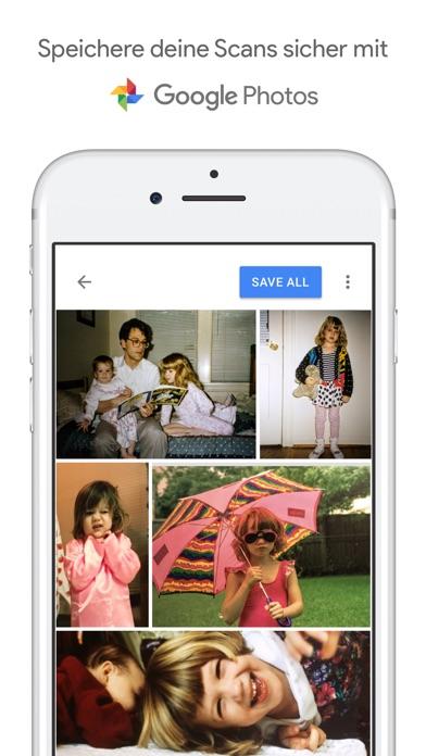 Fotoscanner von Google Fotos Screenshot