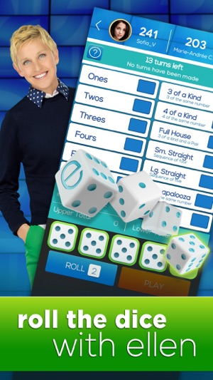 Dice with Ellen - A Fun New Dice Game! Screenshot