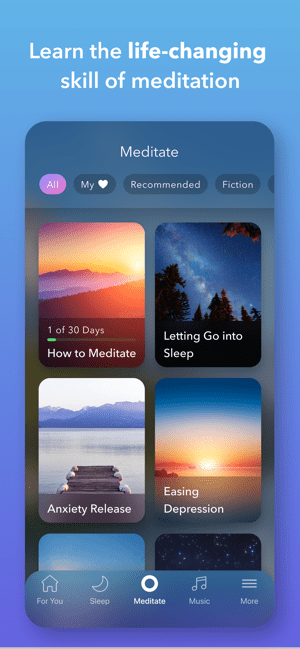 ‎Calm - Meditation and Sleep Screenshot