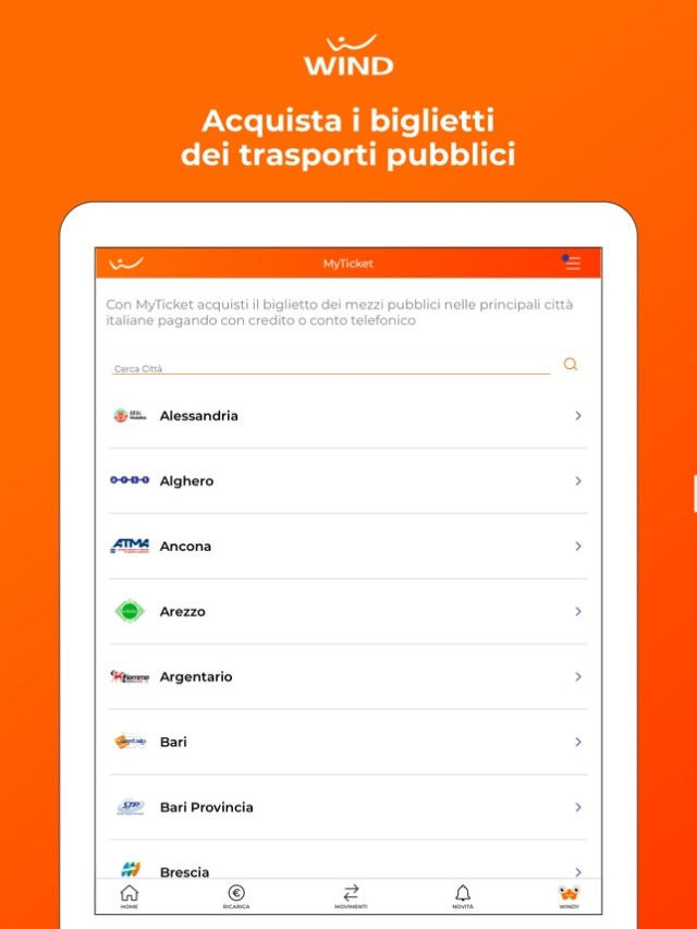 MyWind (App ufficiale Wind) Screenshot