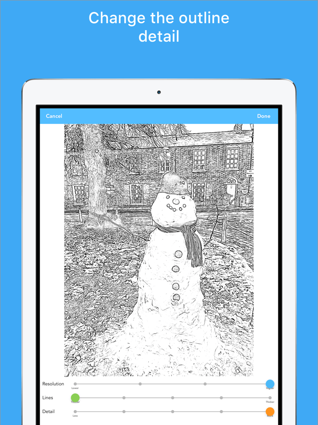 Colorscape - the coloring app Screenshot