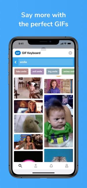 GIF Keyboard Screenshot