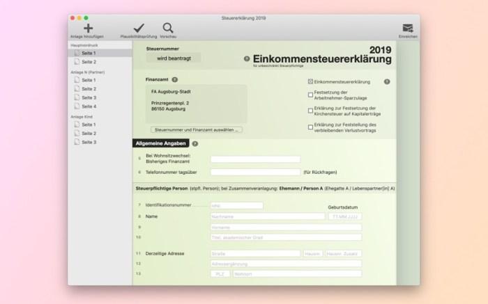 Steuererklärung Screenshot 01 9oof69n