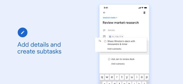Google Tasks Screenshot