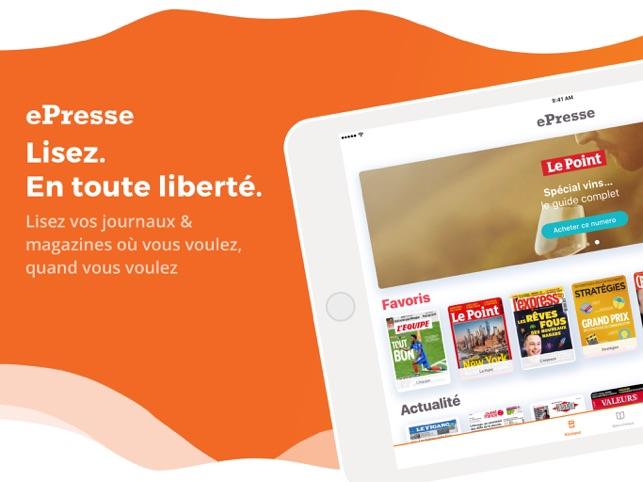presse et magazines dans l app store