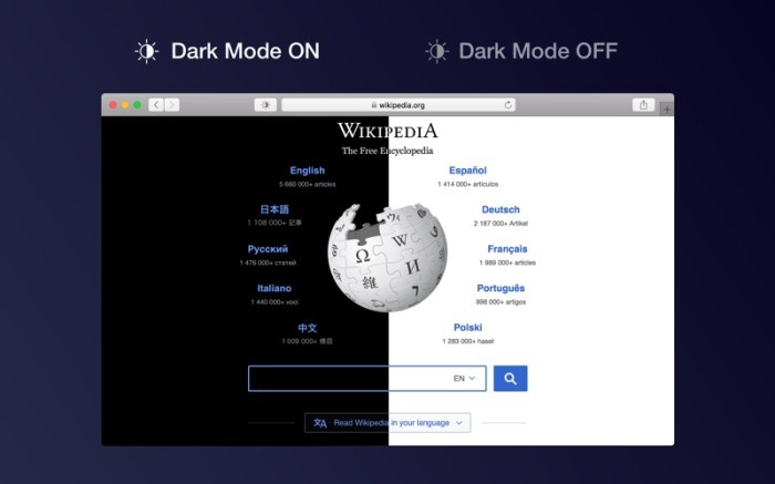 Dark Mode for Safari Screenshot 01 1fje41wn