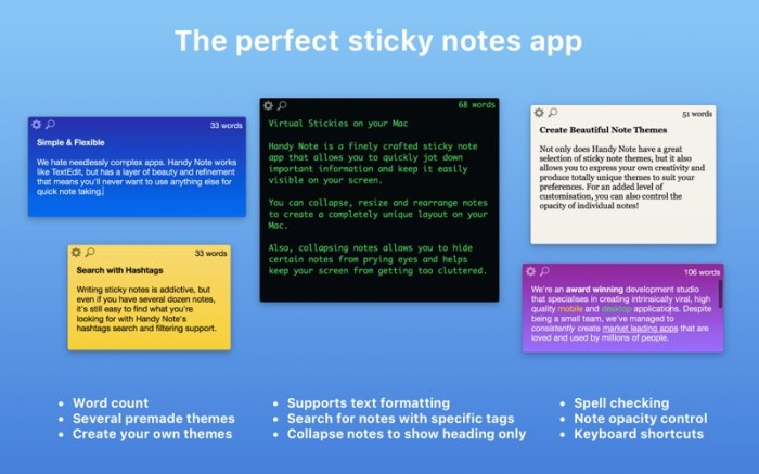Handy Note - Sticky Notes Screenshot 01 136ue9n