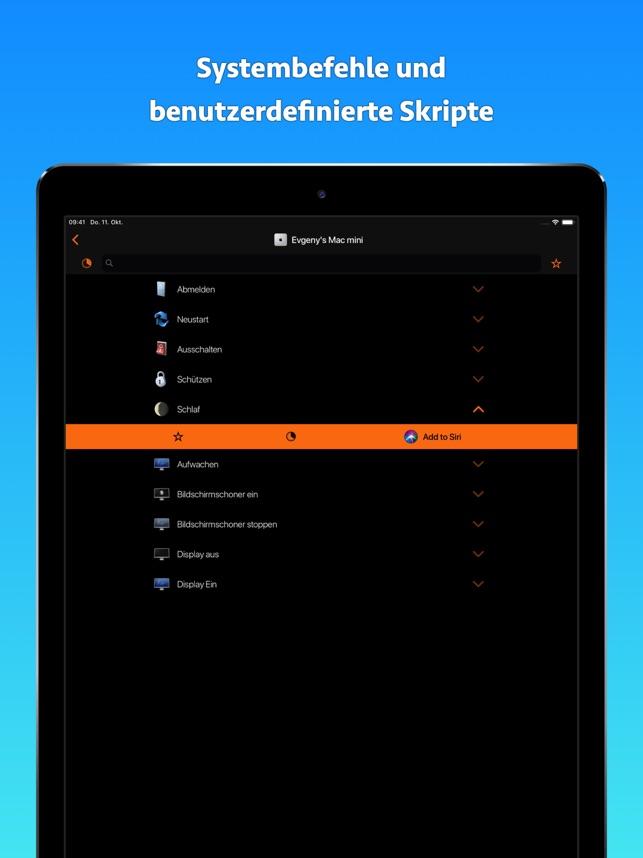 Fernbedienung für Mac Screenshot
