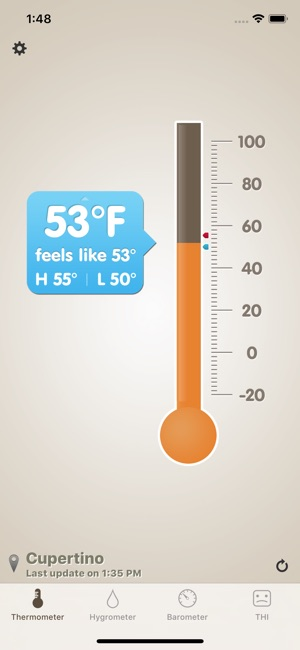 Thermo-hygrometer Screenshot