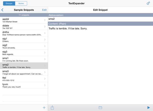 TextExpander (Legacy) Screenshot