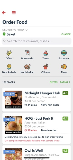 Zomato - Food & Restaurants Screenshot