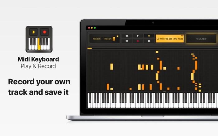 Midi Keyboard - Play & Record Screenshot 03 1k2kggjn