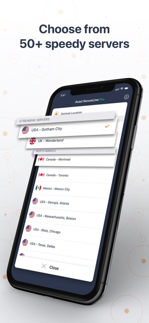 SecureLine VPN Proxy by Avast Screenshot