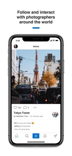 500px – Photography Screenshot