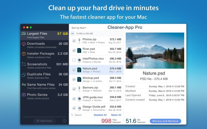 Cleaner-App Screenshot 01 134sson