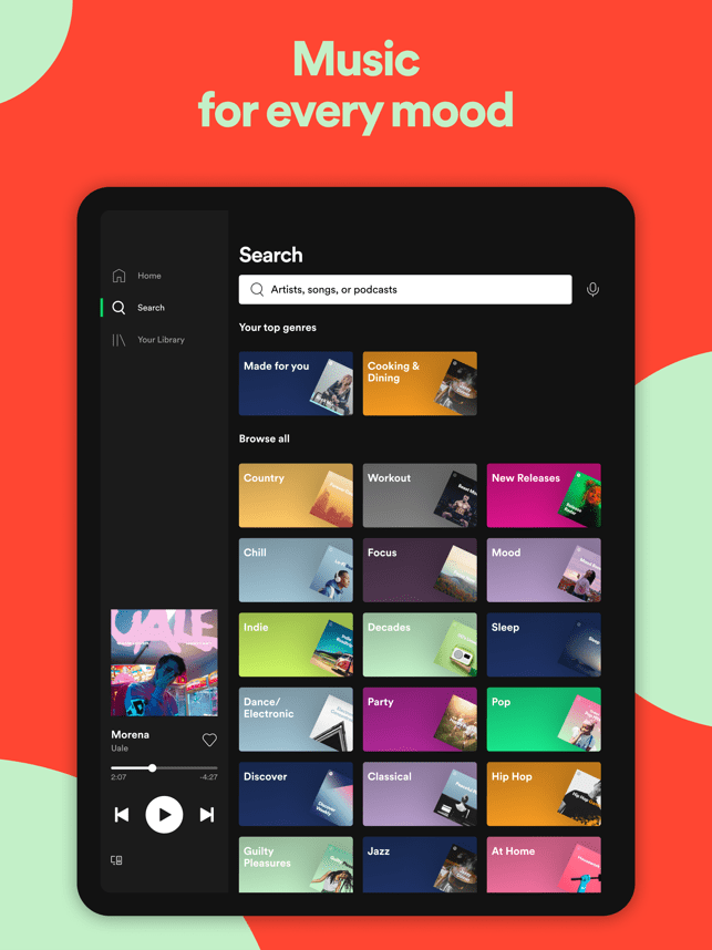 Spotify New Music and Podcasts Screenshot