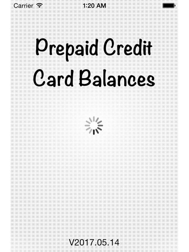 Prepaid Credit Card Balances On The App