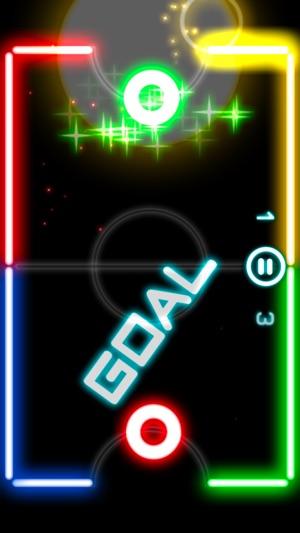 Glow Hockey 2L Screenshot