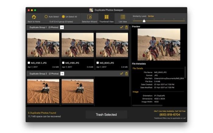 Duplicate Photos SweepOff Screenshot 03 13bs0bn