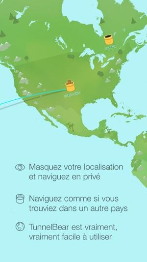 TunnelBear VPN & Wifi Proxy Capture d'écran