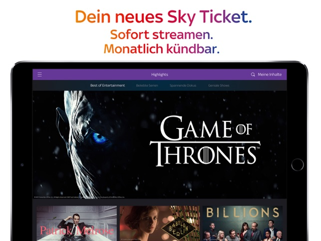 Sky Ticket Screenshot