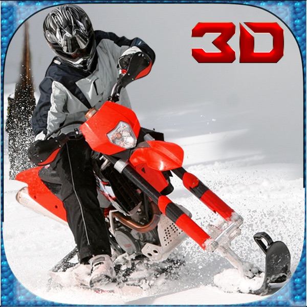 Extreme Snow Bike Simulator 3D - Ride the mountain bike in frozen arctic hills