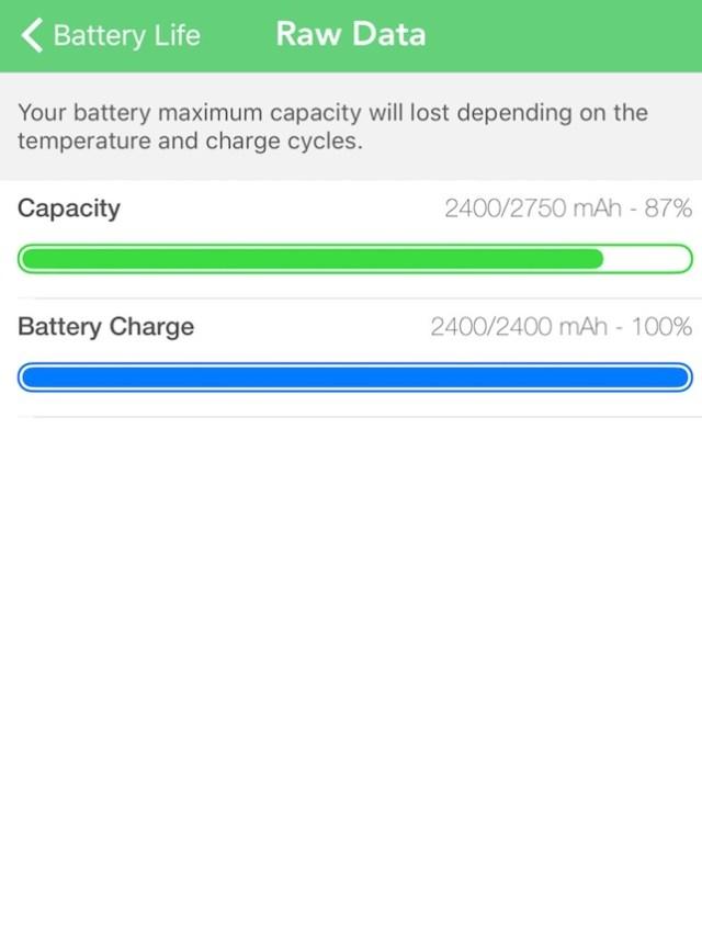 Battery Life Screenshot