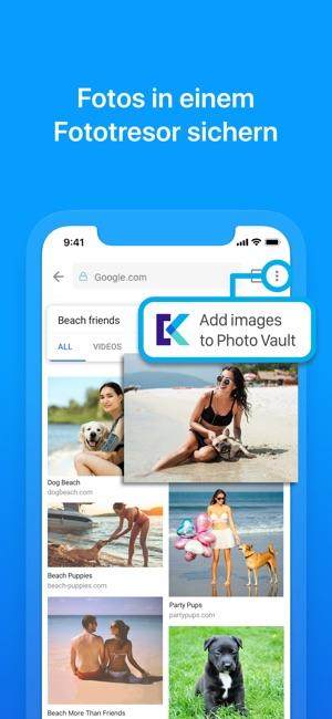 Keepsafe Browser Screenshot