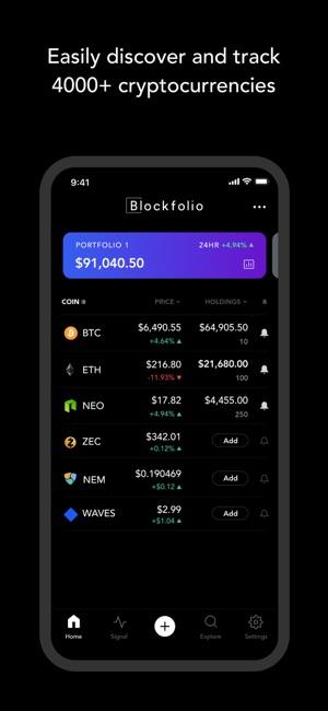 Blockfolio - Bitcoin Tracker Screenshot
