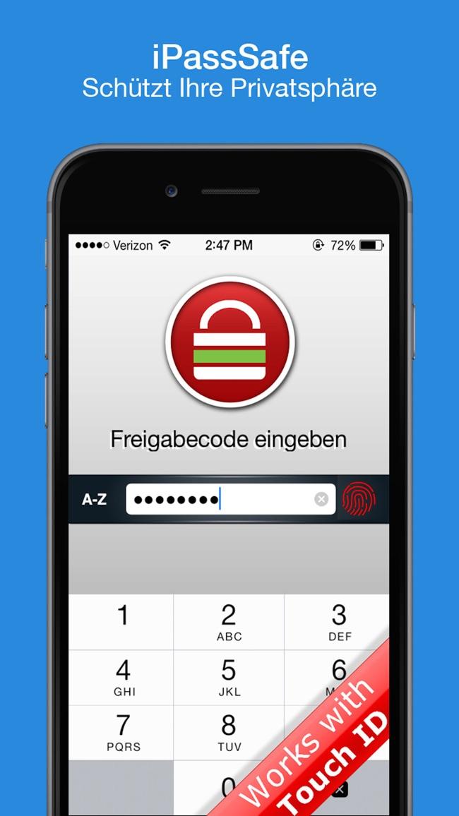 Password Safe - iPassSafe Screenshot