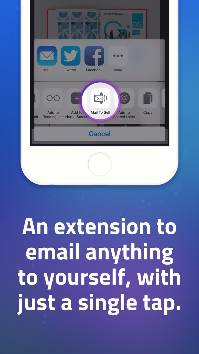 Mail to Self • Send notes to your email in one tap Screenshot