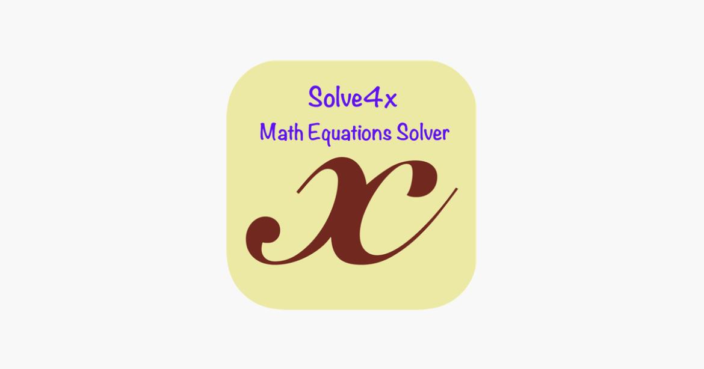 تطبيق Solve4x