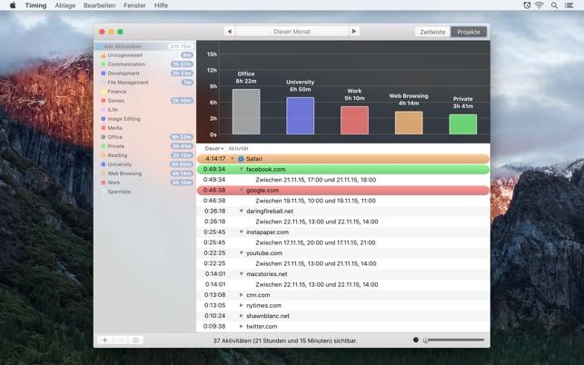 Timing - Automatische Zeiterfassung Screenshot