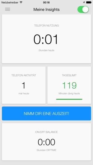 ( OFFTIME ) Light – Analysiere Deine Smartphone Nutzung & Nimm Dir eine Auszeit / Digital Detox Screenshot