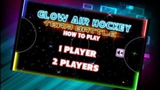 マルチ プレーヤーのテーブル ゲーム子供のために暗闇で光るネオンの光空気ホッケースクリーンショット1