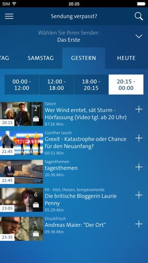 ARD für iPhone Screenshot