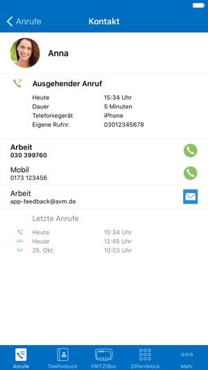 FRITZ!App Fon Screenshot