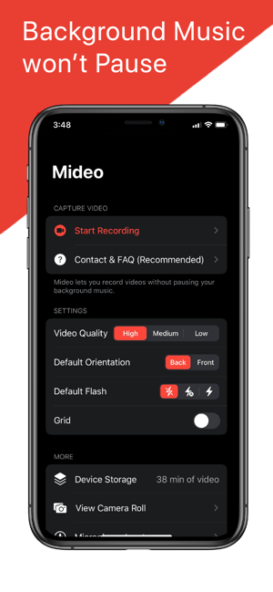 ‎Mideo: Record Video With Music Screenshot