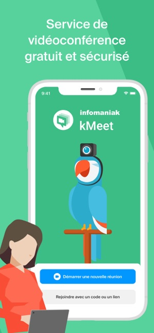 Infomaniak kMeet Capture d'écran
