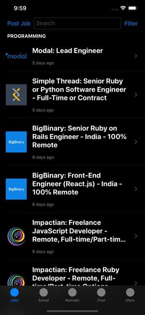 Remotely Job Search Screenshot