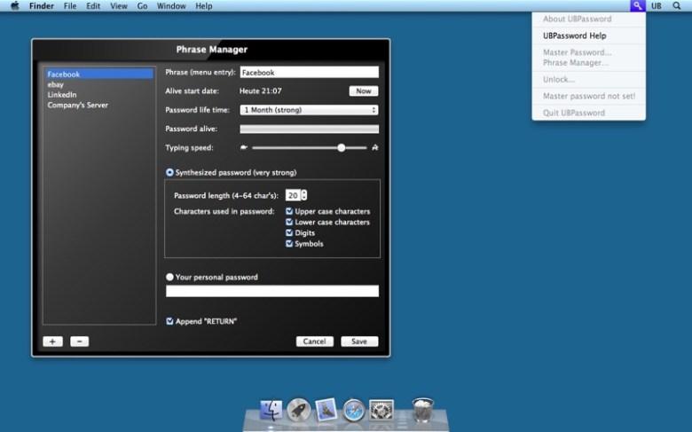 UBPassword Lite Screenshot