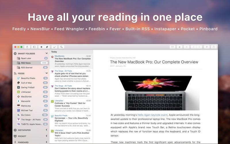 Screenshot do app ReadKit