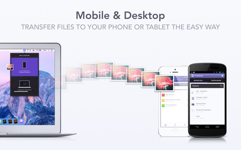 Instashare - Transfer files and photos the easy way Screenshot