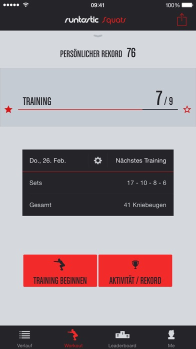 Runtastic Squats Trainer PRO Screenshot