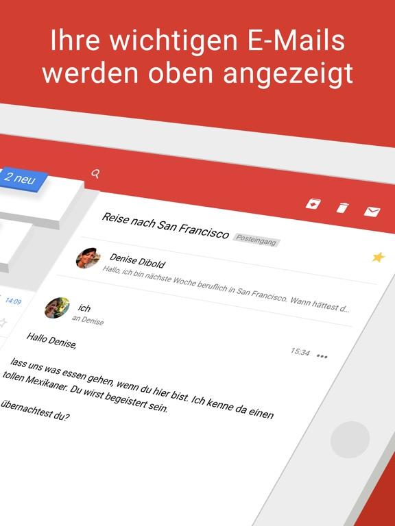 Gmail – E-Mail von Google Screenshot