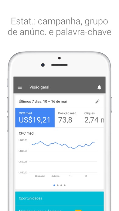 Screenshot do app AdWords