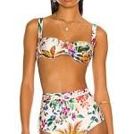 Zimmermann Tropicana Bikini Top in Cream Floral from Revolve.com 💥👩👩💥